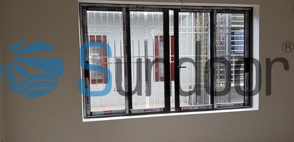 Cửa sổ mở trượt 4 cánh cao cấp nhôm Xingfa