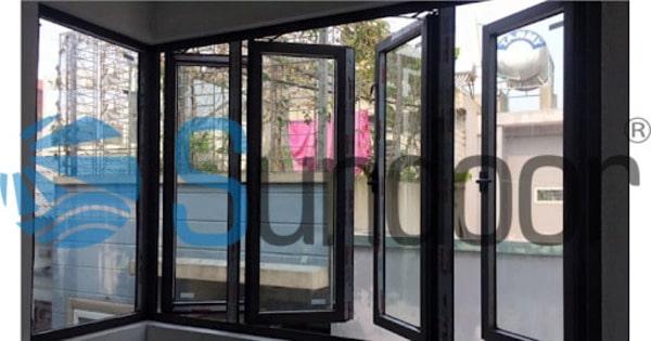 cửa sổ mở quay 4 cánh Xingfa