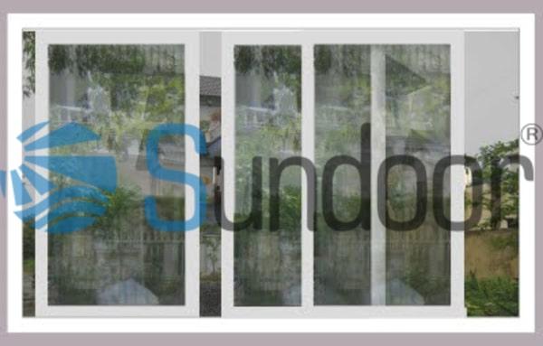 cửa sổ mở trượt 3 cánh xingfa màu trắng