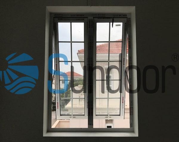 Cửa sổ mở hất nhôm Xingfa 2 cánh