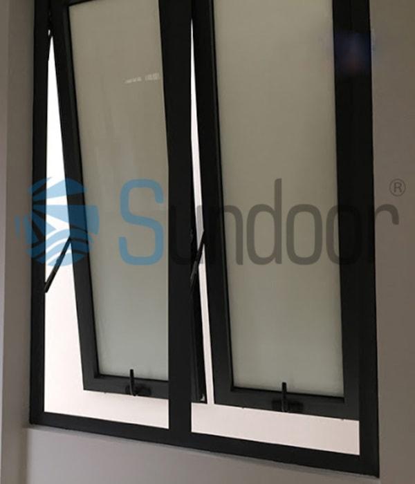 Kích thước cửa sổ 2 cánh nhôm Xingfa chuẩn