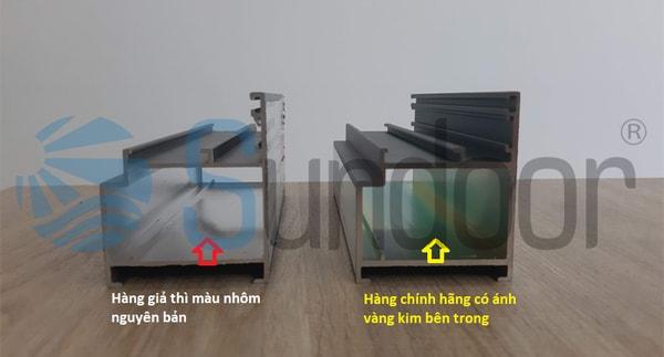 Kiểm tra lớp mạ Crom trên bề mặt và bên khoang trong thanh nhôm Xingfa