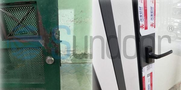 So sánh độ bền cửa nhôm Xingfa và cửa sắt