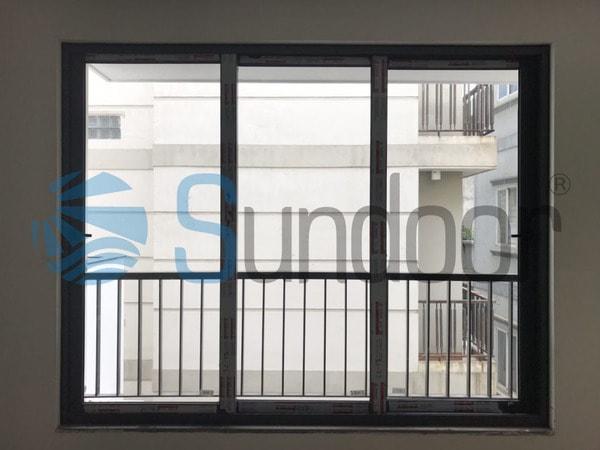 Cửa sổ mở trượt 3 cánh nhôm Xingfa