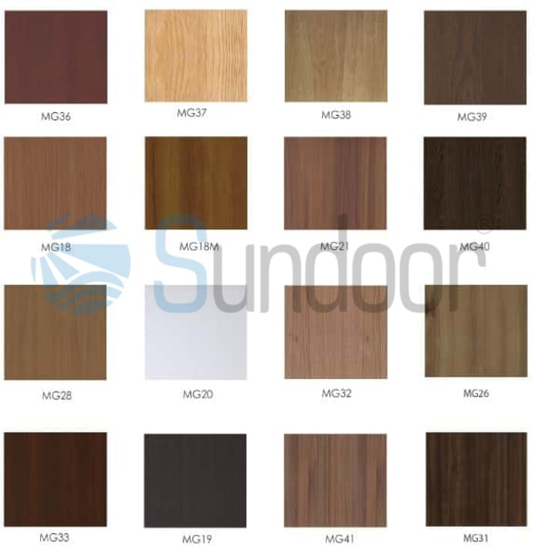 mã màu cửa nhựa gỗ Composite