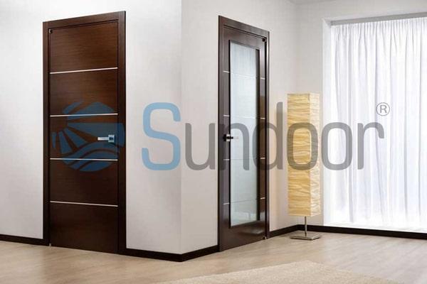 Hình ảnh minh họa cửa gỗ Composite soi chỉ
