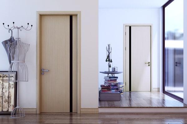 Cửa gỗ công nghiệp chống nước Line Art - Xu hướng mới cho phòng WC