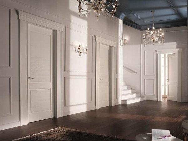 Cửa phòng ngủ màu trắng đem lại không gian tinh khiết