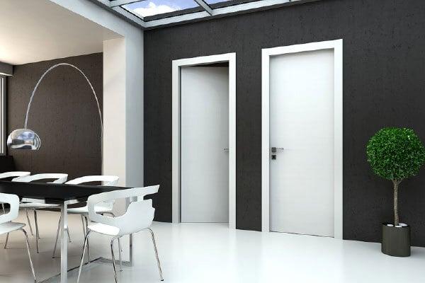 Tô điểm không gian bằng cửa phòng ngủ màu trắng