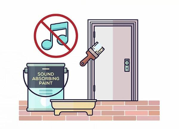Sơn hấp thụ âm thanh giúp tăng hiệu quả cách âm cho cửa