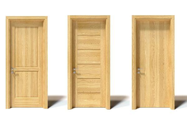 Cửa phòng ngủ được làm bằng gỗ Sồi