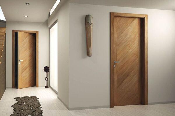 Cửa gỗ công nghiệp HDF Veneer vân gỗ